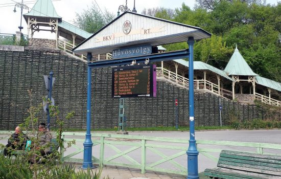 רכבת הילדים בבודה. התחנה בה יורדים כדי להגיע לרכבת.